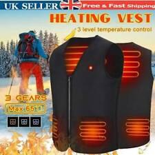 Electric USB Heated Vest Jacket Coat Warm Up Heat Pad Cloth Body Warmer Unisex