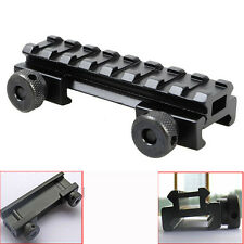 "1/2"" 8 Slot Medium Riser Base 20mm Weaver Picatinny Scope Mount Rail New..#"