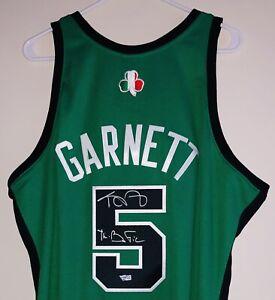 Kevin Garnett Celtics Signed Mitchell & Ness NBA Rome, Italy HOF Jersey FANATICS
