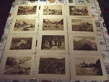 ANCIEN LOT 20 GRAVURES LITHOGRAPHIE SUISSE VIADUC DE FINHAUT, MARTIGNY CHAMONIX
