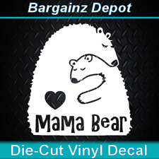 Vinyl Decal.. MAMA BEAR.. Adorable Mother Child Mom Love Car SUV Laptop Sticker