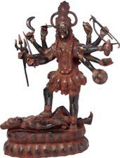 """Large KALI Mama Hindu Jai God Liberator Statue 32""""Look Vintage Brass Figure 34KG"""