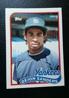 1989 TOPPS TRADED #110T DEION SANDERS ROOKIE CARD RC NEW YORK YANKEES MINT
