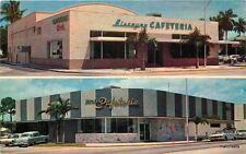 1960s Biscayne Cafeteria roadside Miami Florida Polansky postcard 9747 autos