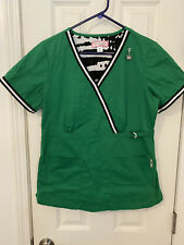 Koi by Kathy Peterson Women's Scrub Top Size Medium