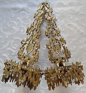 Coppia di Applique Giudaico  primi 900 in bronzo dorato