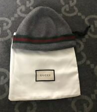 100% AUTHENTIC GUCCI SIGNATURE SKULLY BEANIE HAT GREY SIZE LARGE L