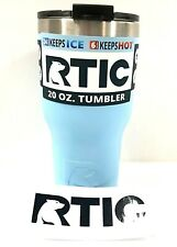 RTIC 20 oz Thermal Tumbler Stainless Steel Coffee Mug Cup Matte ICE Blue 1408