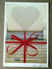 Carte postale Page d'écriture,Lepautremat,Love, coeur ,postcard