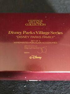 Dept. 56 Heritage Disney Parks Village Series Family Set of 3  5354-6