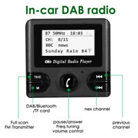 DAB Car Kit + Digital Radio Adapter Receiver FM Transmitter Antenna LCD Display