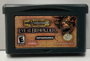 Eye of the Beholder Nintendo GameBoy Advance GBA Cart Only Authentic Dragons