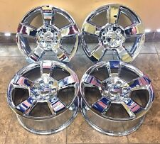"20"" 20 Inch Chevrolet Silverado Tahoe Suburban Chrome Wheels Rims Set Of 4 6x139"