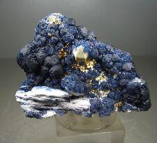121.03 Blue Fluorite on Quartz 10x7 cm Huanggang Mine, Inner Mongolia, China
