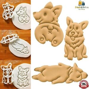 8x Biscuit Mold 3D Dinosaur Cookie Cutter Stamps Plastic Mold Animal Shape
