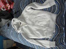 womens grey hoodie medium zipped