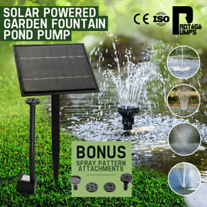 Protege 5W Solar Powered Fountain Submersible Water Pump Panel Kit Garden