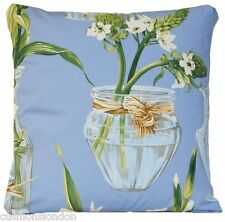 Blue Cushion Cover Manuel Canovas Alice Printed Fabric Throw Pillow Case Vase