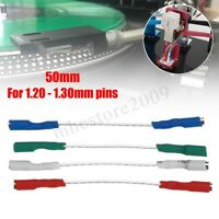 4x 7N Headshell Wires Set Silver Leads OFC Phono Cartridge Cable 1.20-1.30mm pin