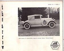 "Pierce Arrow Society Vol 78 No 2 - Model Z Chassis Trucks; 1928 ""81"" 1925 ""33"""