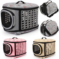Pet Portable Dog Cat Sided Carrier Travel Tote Shoulder Bag Foldable Cage Kennel