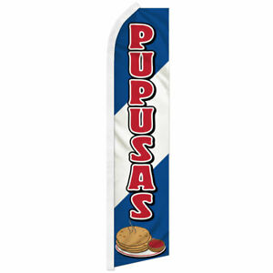 Pupusas Swooper Feather Flutter Advertising Flag El Salvadorian Food Restaurant