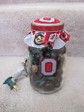 Ohio State Buckeyes One of a Kind Mason Jar Lamp Light and Made
