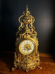 Antique Large Ornate Gilded Bronze JAPI CATHREDRAL French CLOCK