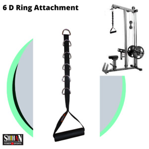 6-D STIRRUP Cable Crossover Gym Attachment STIRRUP Handle Fitness Exercise Gym