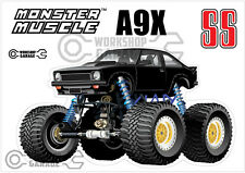Holden Torana A9X SS MONSTER 4X4 Sticker - Black with Simmons - MONSTER MUSCLE