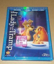 Disney's Lady and the Tramp (Blu-ray/DVD, 2012, 2-Disc Set, Diamond Edition) NEW