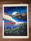 """Harry Potter """"The Journey Begins"""" Art Print Poster Derek Payne XX/100 Sorcerer's"""