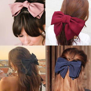 2021 Velvet Layered Hair Bow Fall Winter Hair Accessories Clip French Barrette