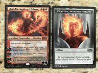 Chandra Awakened Inferno EmblemNM//MM20 Core Set Magic 2020Magic MTG