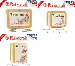 Peakdale Flower Press Deluxe Wooden Kits Made Of Sturdy MDF Board