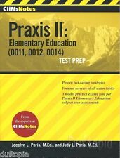 3 x CliffsNotes Praxis test prep I & II & CD ROM 3 Book..
