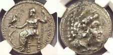 KINGDOM OF MACEDON ALEXANDER THE GREAT AR TETRADRACHM 336-323 BC NGC CH F