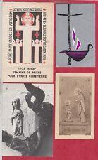 C15 - Image Pieuse -  SANTINO - Holly Card -  LOT 4 PC -
