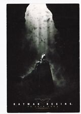 BATMAN BEGINS  carte postale publicitaire pour la sortie du film