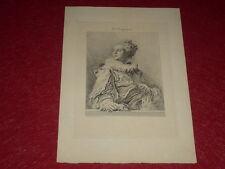 Collection Adolphe LALAUZE / CHAMPOLLION Portrait de FRAGONARD  Belle Eau-Forte