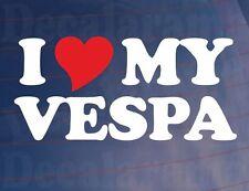 Me love/heart mi Vespa Novedad motorcycle/scooter/bike Vinilo calcomanía / etiqueta adhesiva