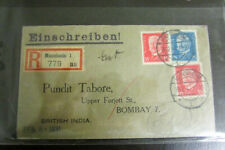 Germany Cover to Bombay India Registered Scarce Cover