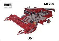 Vintage Massey Ferguson Tractor 760 Combine Poster Brochure Leaflet A3 VERY RARE