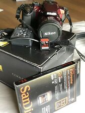 Nikon COOLPIX P510 16.1MP Digital Camera - Red with Sandisk 32GB card.