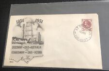Australian 1951 Fdc Centenary Discovery Of Gold In Australia