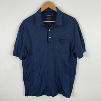Gazman Mens Polo Shirt Large Blue Short Sleeve Collared