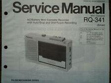 Panasonic RQ-341 REGISTRATORE A CASSETTE MANUALE SERVIZIO diagramma di cablaggio parti