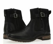 Taos Convoy 235566 Women's Black Oiled leather Ankle Zip boots Size 41/ 10-10.5