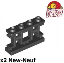 Lego - 2x Fence barrière 1x4x2 Asian chinoise chinois noir/black 32932 NEUF