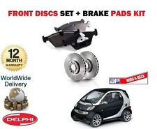 FOR SMART CITY FORTWO TURBO CDI 2001-> NEW FRONT BRAKE DISCS SET + DISC PADS KIT